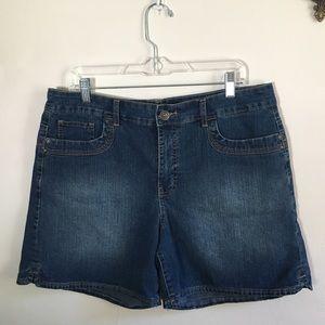 Gloria Vanderbilt blue jean denim shorts